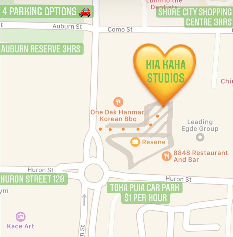Parking at Kia Kaha Studios